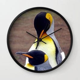 Male and Female King Penguins Wall Clock