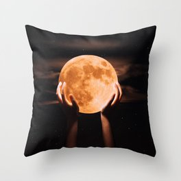 hey moon Throw Pillow
