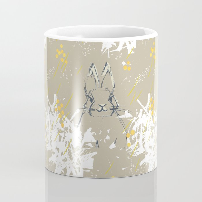 Bunny Portrait M+M Latte by Friztin Coffee Mug