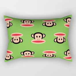 Julius Monkey Pattern by Paul Frank - Green Rectangular Pillow