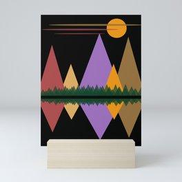 Moon Over The Mountains #1 Mini Art Print