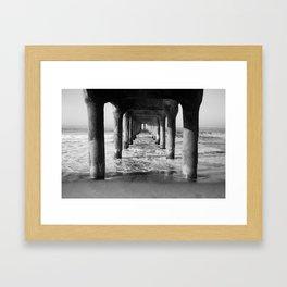 Manhattan Beach Pier   Manhattan Beach Photography   Manhattan Beach Art   Manhattan Beach Print Framed Art Print