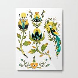 Vintage pattern Metal Print