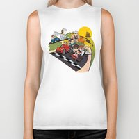 mario kart Biker Tanks featuring Super Fighting Kart by Legendary Phoenix