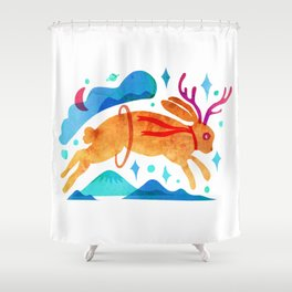 The Jackalopes Shower Curtain