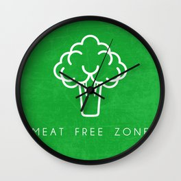 MEAT FREE ZONE Wall Clock