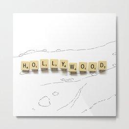 Hollywood Scrabble Metal Print