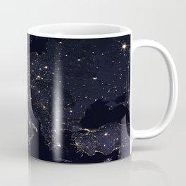 Europe at Night Coffee Mug