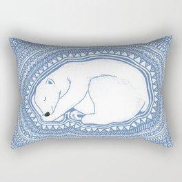 Polar bear, floe, pattern Rectangular Pillow