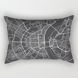 Cologne Map, Germany - Gray Rectangular Pillow