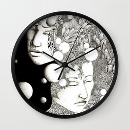 Troubled and peaceful sleep Wall Clock