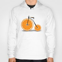 orange Hoodies featuring Vitamin by Florent Bodart / Speakerine