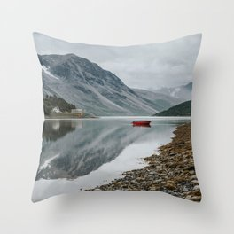 Norway I - Landscape and Nature Photography Throw Pillow