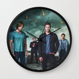Supernatural Season 9 Promo  Wall Clock