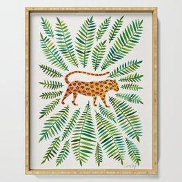 Jaguar – Green Leaves Serving Tray
