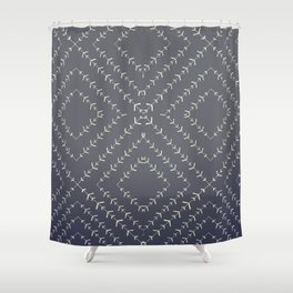 Boho blue fade indigo vines Shower Curtain