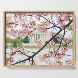 Jefferson through the Blossoms Serving Tray