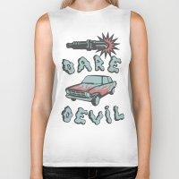daredevil Biker Tanks featuring DareDevil by NickTheGreek