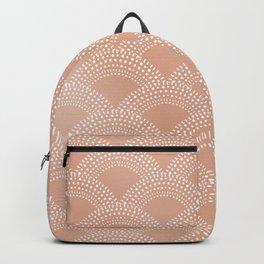Elegant blush pink mermaid fish scale pattern Backpack