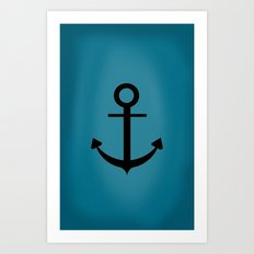 Blue Anchor Art Print