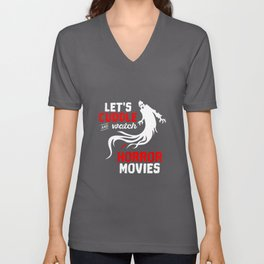 Halloween Lets Cuddle And Watch Horror Movies Unisex V-Neck