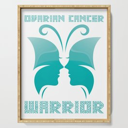 Ovarian Cancer Warrior Serving Tray