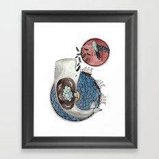 New Version Whale Framed Art Print