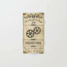 Steampunk Apothecary Shoppe - Cogs Hand & Bath Towel