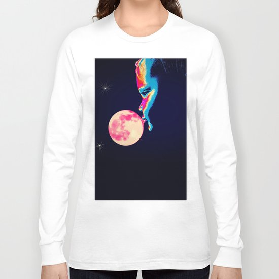 Bubblegum Moon Long Sleeve T-shirt