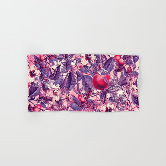 flowers 9 purple Hand & Bath Towel
