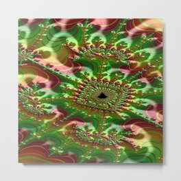 Thunderstruck Skein Fractal - Abstract Art Metal Print