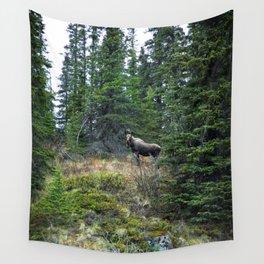 Mr. Moose Way Up North Wall Tapestry