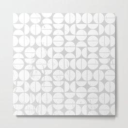 Circle Pattern | 70s Vibes | Puzzle | Grey Art | Abstract Metal Print