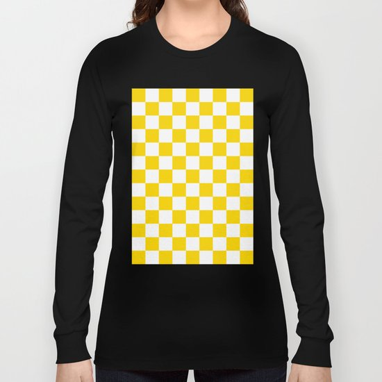 Checker (Gold/White) Long Sleeve T-shirt