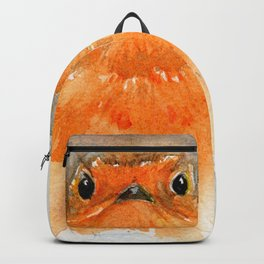 Fluffy Red Robin Backpack