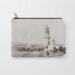 Siout (assiut) is the largest town in upper Egypt  by David Roberts (1796-1864) Carry-All Pouch