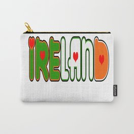 Ireland Font #1 with Irish Flag Carry-All Pouch