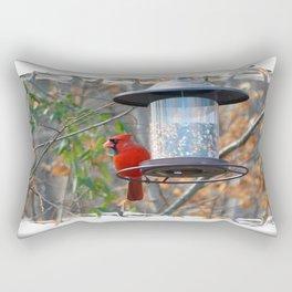 Male Cardinal Rectangular Pillow