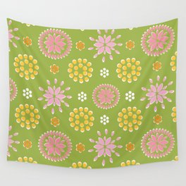 Lime Deco Wall Tapestry