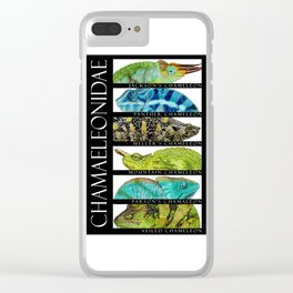 Chameleons of the World Clear iPhone Case