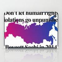 bisexual iPad Cases featuring Boycott Sochi - Bisexual Flag Gradient by Boycott Sochi