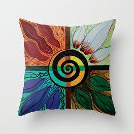 Four Seasons of Eternity  Throw Pillow