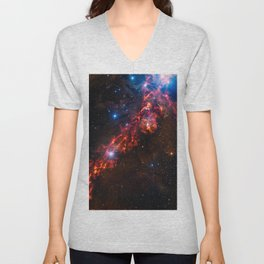 Cosmic Couds in the Orion Nebula Unisex V-Neck