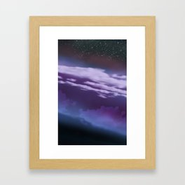 Stars and Clouds Framed Art Print