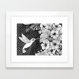 Hummingbird garden Framed Art Print