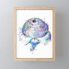 Eye Art Colorful Watercolor Decor Anatomical Eye Ophthalmology Art Medical Art Framed Mini Art Print