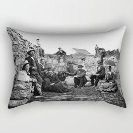 Hovedøya, Oslo c.1860 Rectangular Pillow