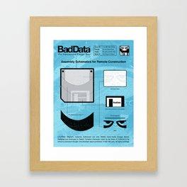 Bad Data: Assembly Instructions (Blue) Framed Art Print