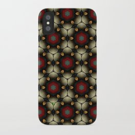 Metallic Deco Little Leaves iPhone Case