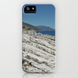 Holiday Rocks by the Sea in Kefalonia iPhone Case